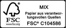 Papier aus verantwortungsvollen Quellen, FSC C106337