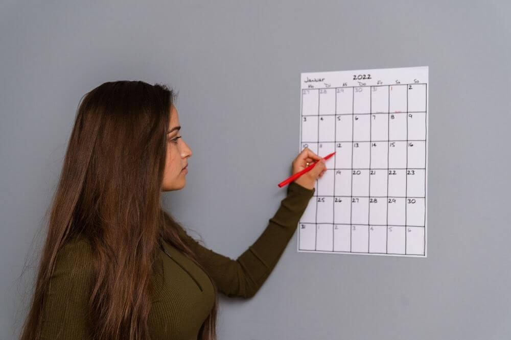 Plane genügend Zeit für Deine Vorbereitung ein!