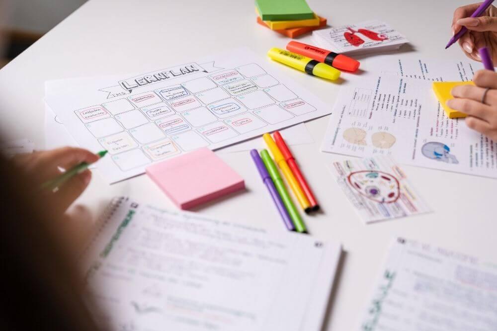 Mit einem Lernplan geht's gleich viel leichter!