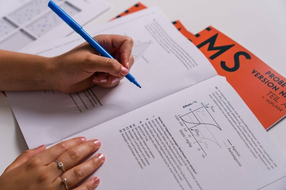 Diagramme und Tabellen - ein schwieriger Untertest des TMS