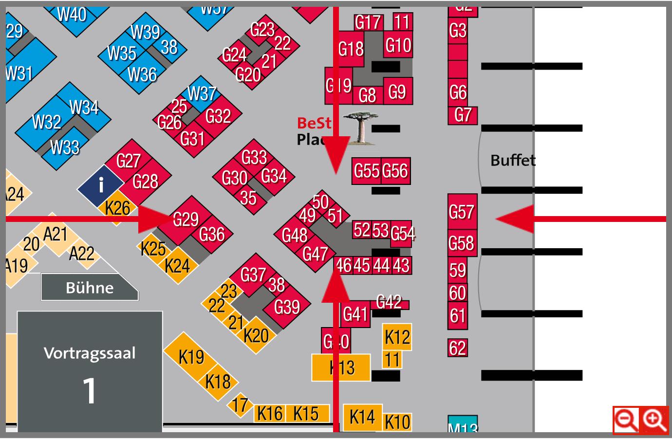 BeSt Messe Wien Lageplan MedGurus Stand