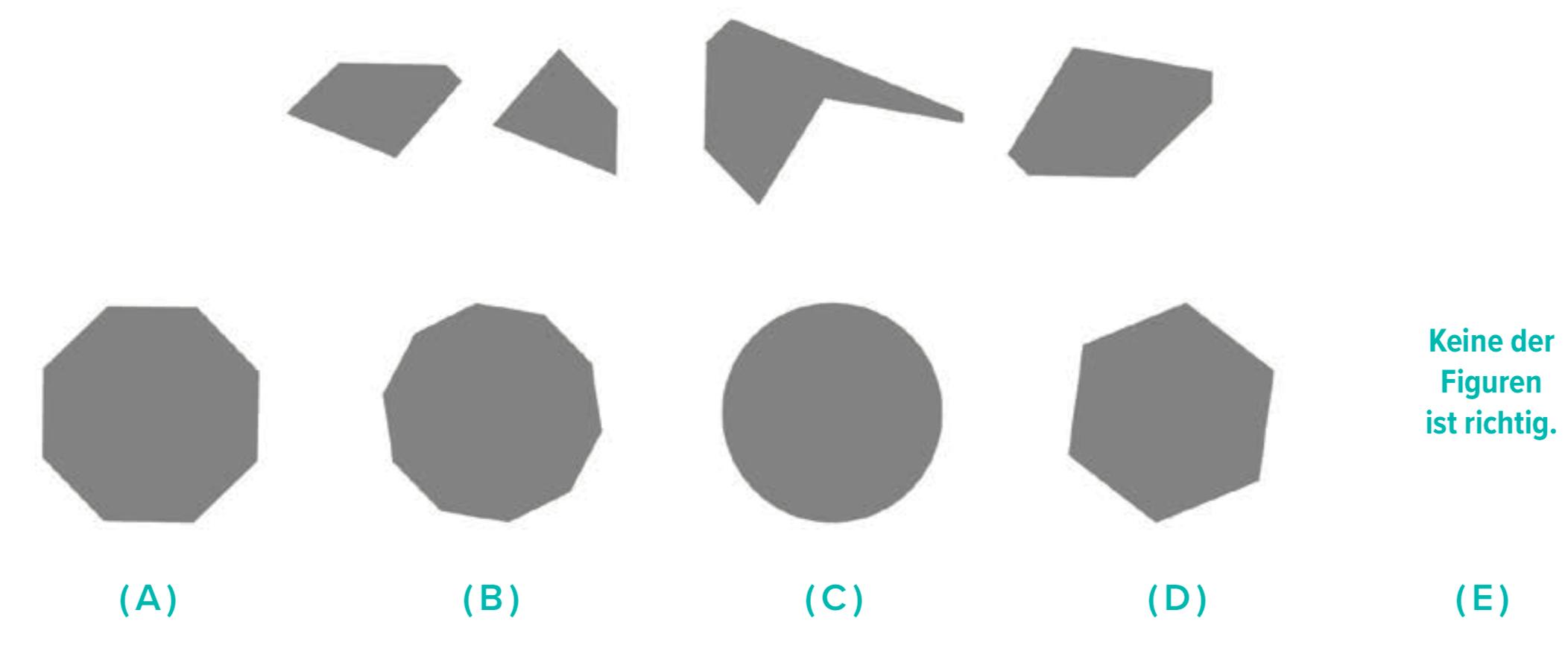 Eine leichte Aufgabe zum Untertest Figuren zusammensetzen