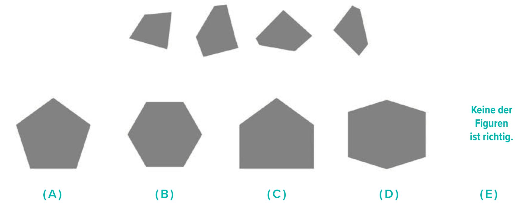 Eine mittelschwere Aufgabe zum Untertest Figuren zusammensetzen