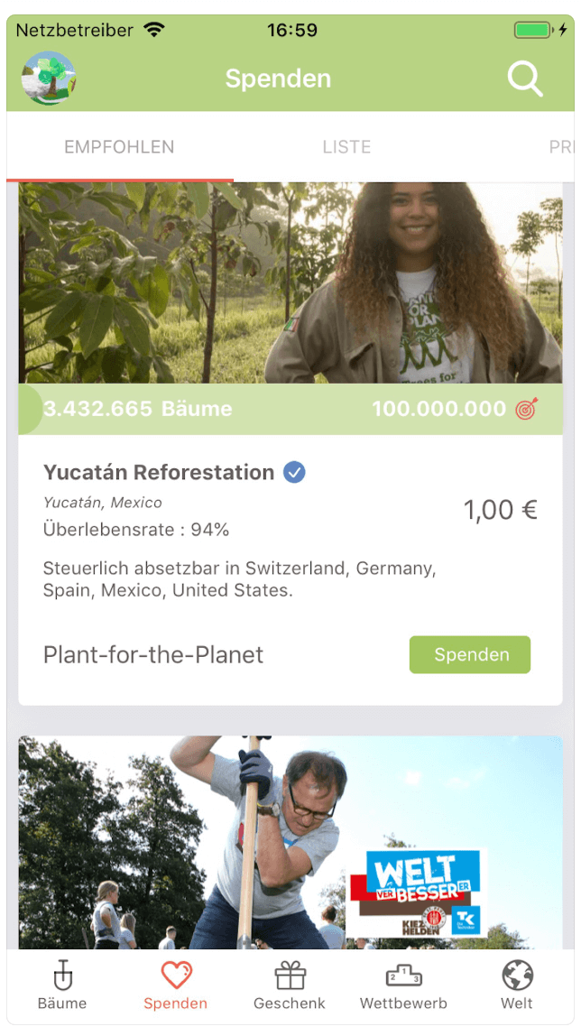 Plant-for-the-planet App
