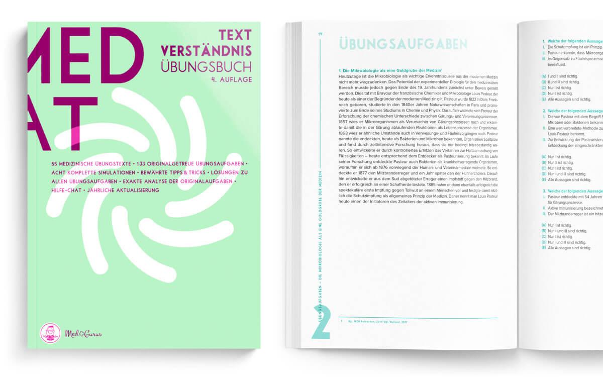 Textverständnis zur Vorbereitung auf den MedAT 2019 Ansicht von vorne